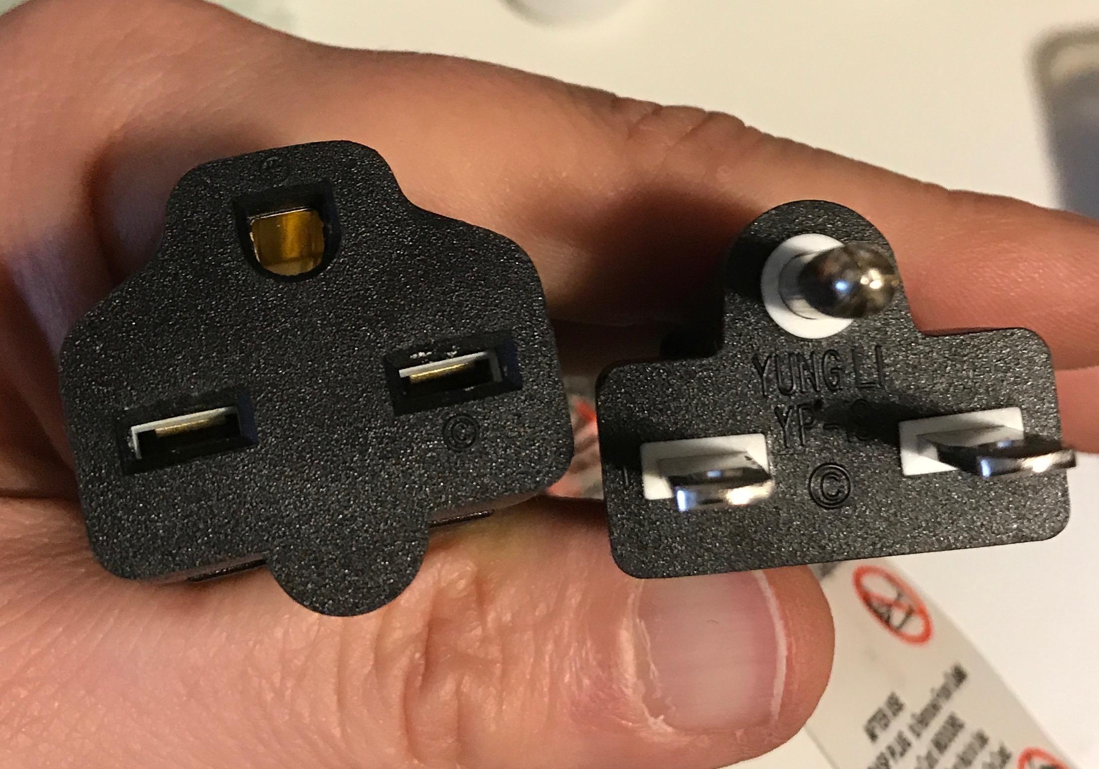 NEMA 6-15 extension cord