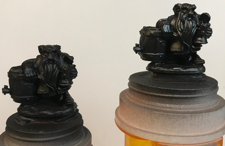 Dwarves - black primer and black metal