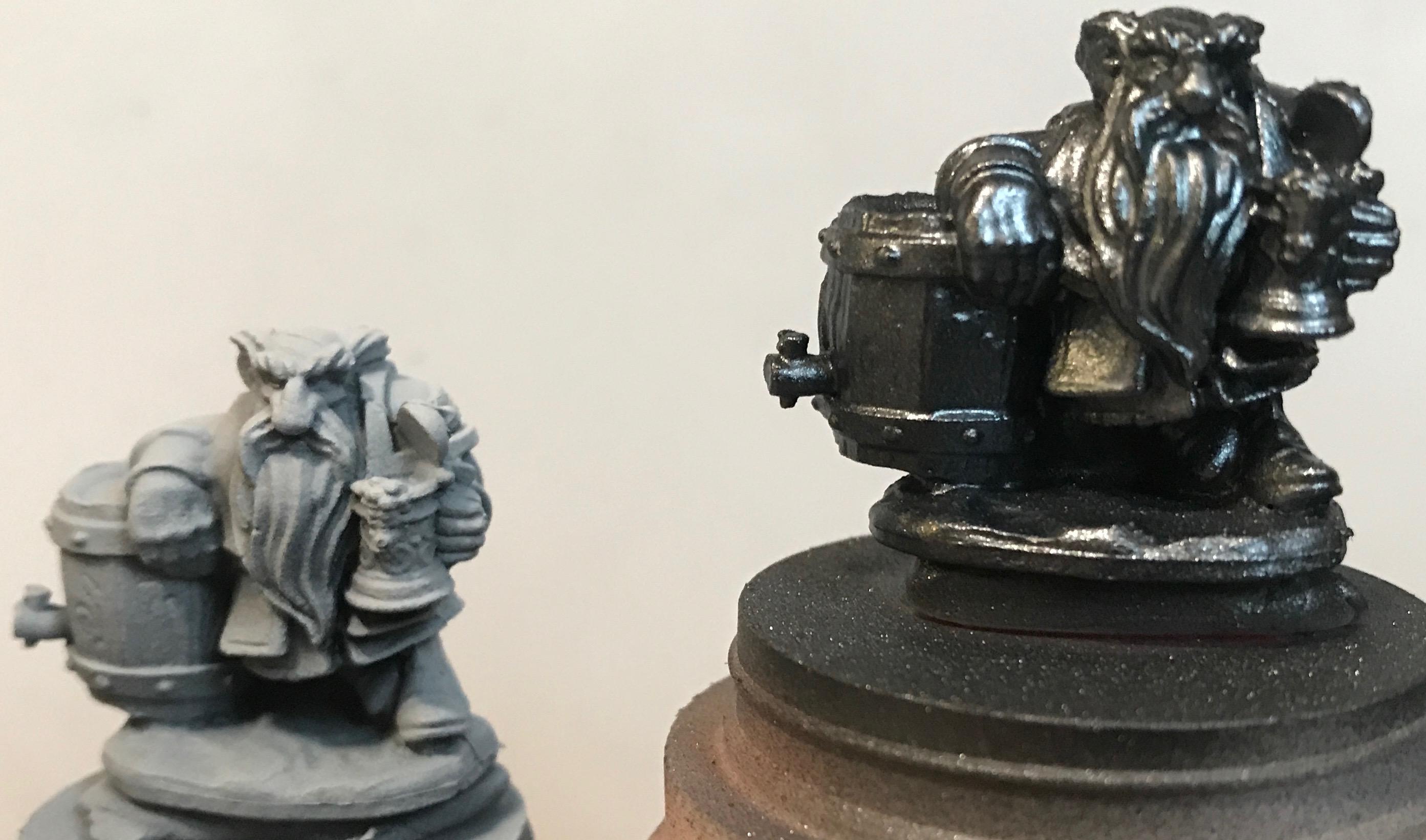 Dwarves = gray zenithal vs metal zenithal
