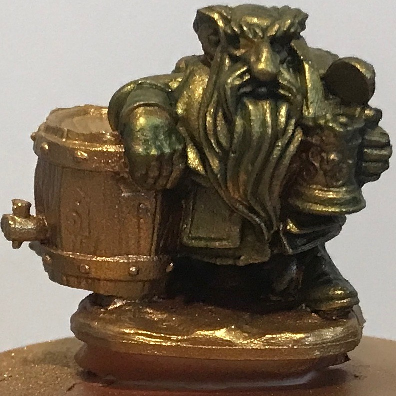 Dwarf - gold with 50% camo green