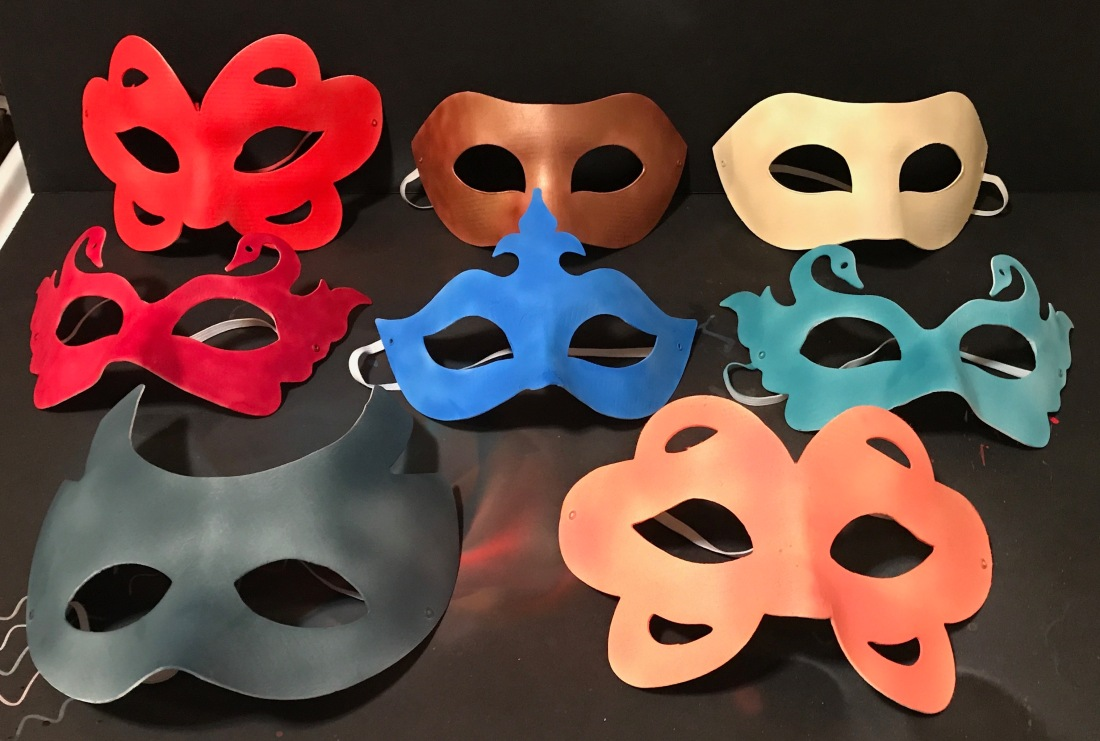 Airbrushed masks