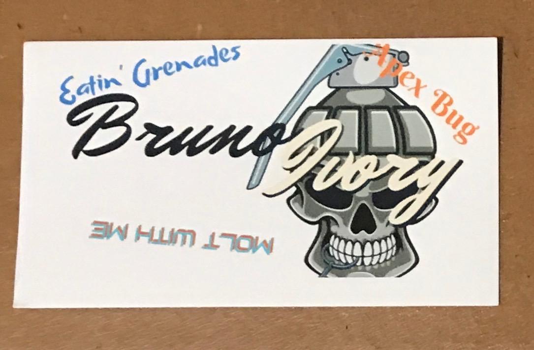 Bruno Ivoey's card