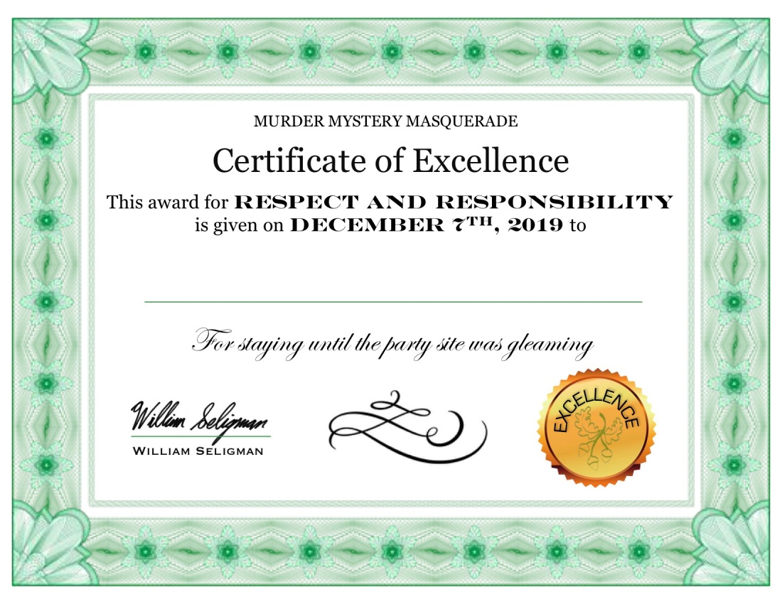 Certificates sample