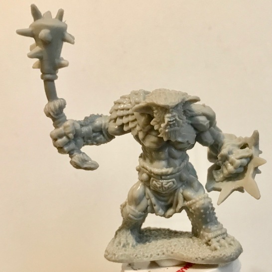 Unpainted Bugbaear Warrior - front